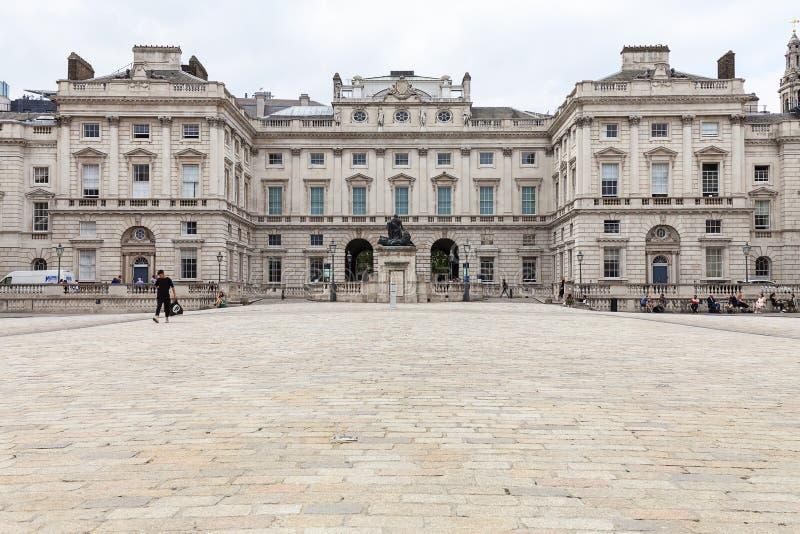 Neoklasyczny buduje Somerset dom w gromadzkim Covent ogródzie, Londyn, Zjednoczone Królestwo zdjęcie royalty free