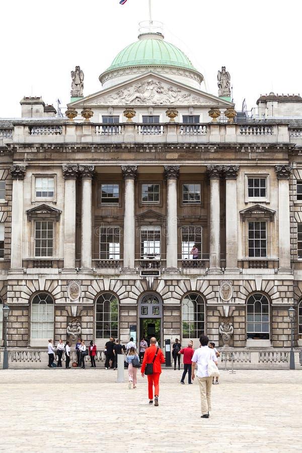 Neoklasyczny buduje Somerset dom w gromadzkim Covent ogródzie, Londyn, Zjednoczone Królestwo fotografia stock
