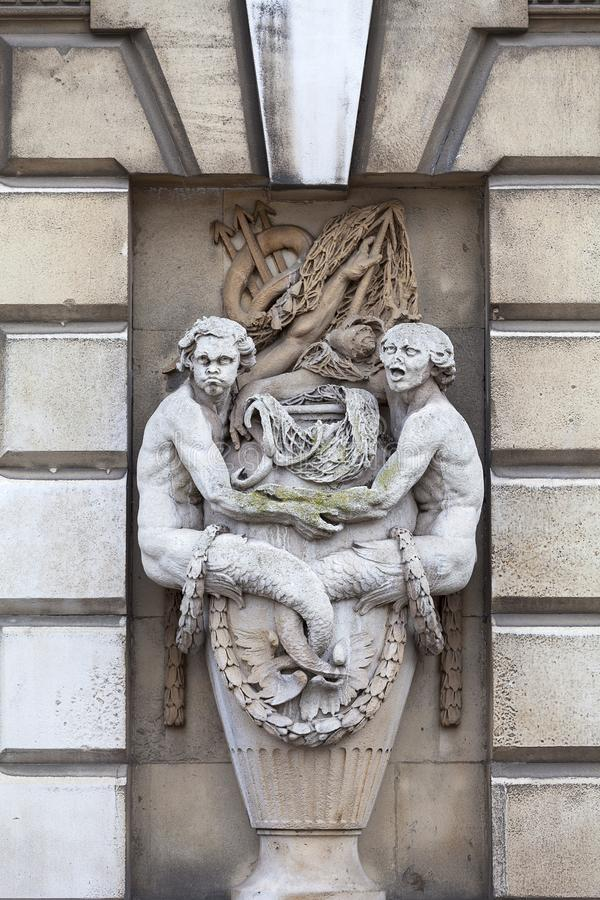 Neoklasyczny buduje Somerset dom w gromadzkim Covent ogródzie, Londyn, Zjednoczone Królestwo fotografia royalty free
