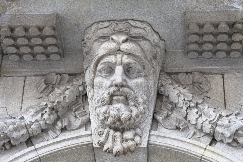 Neoklasyczny buduje Somerset dom w gromadzkim Covent ogródzie, ulga na fasadzie, Londyn, Zjednoczone Królestwo fotografia royalty free