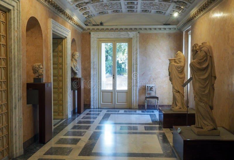Neoklasyczny pałac willa Torlonia w Rzym, Włochy fotografia royalty free