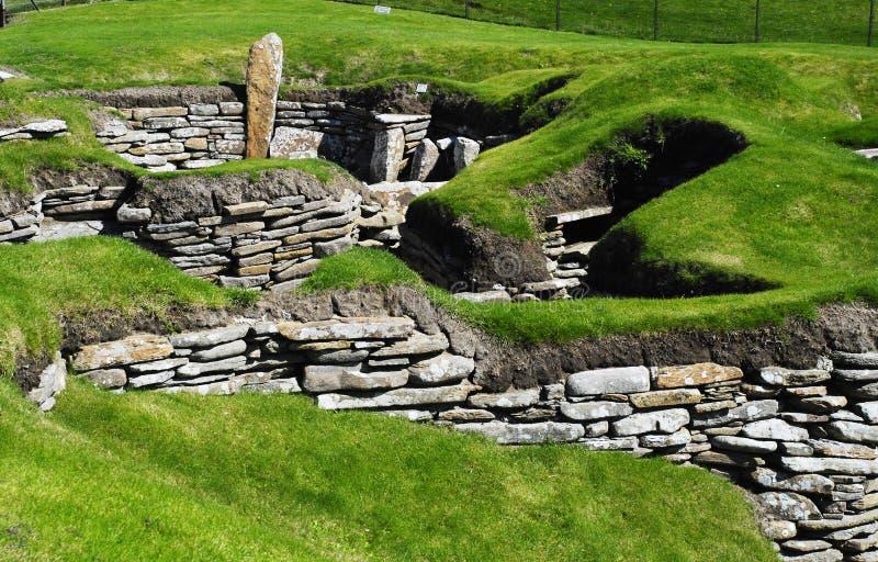 Neolithic Dwelling Skara Brae royalty free stock photography