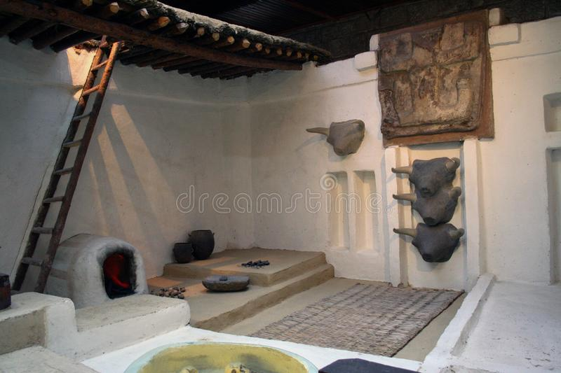 Neolithic house stock photography