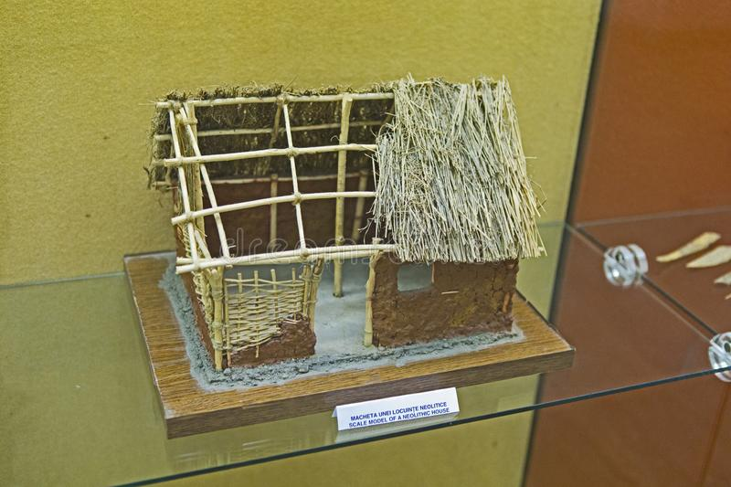 Neolithic house scale model from Union Museum royalty free stock images