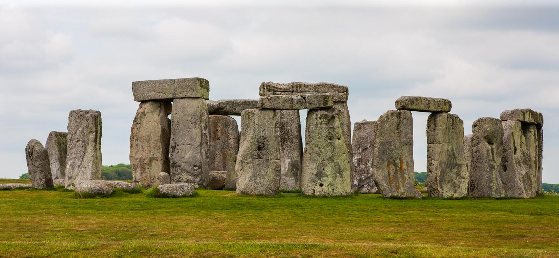 Stonehenge, Salisbury Plains, England. Neolithic prehistoric arrangement of large rocks in a circular formation royalty free stock photo
