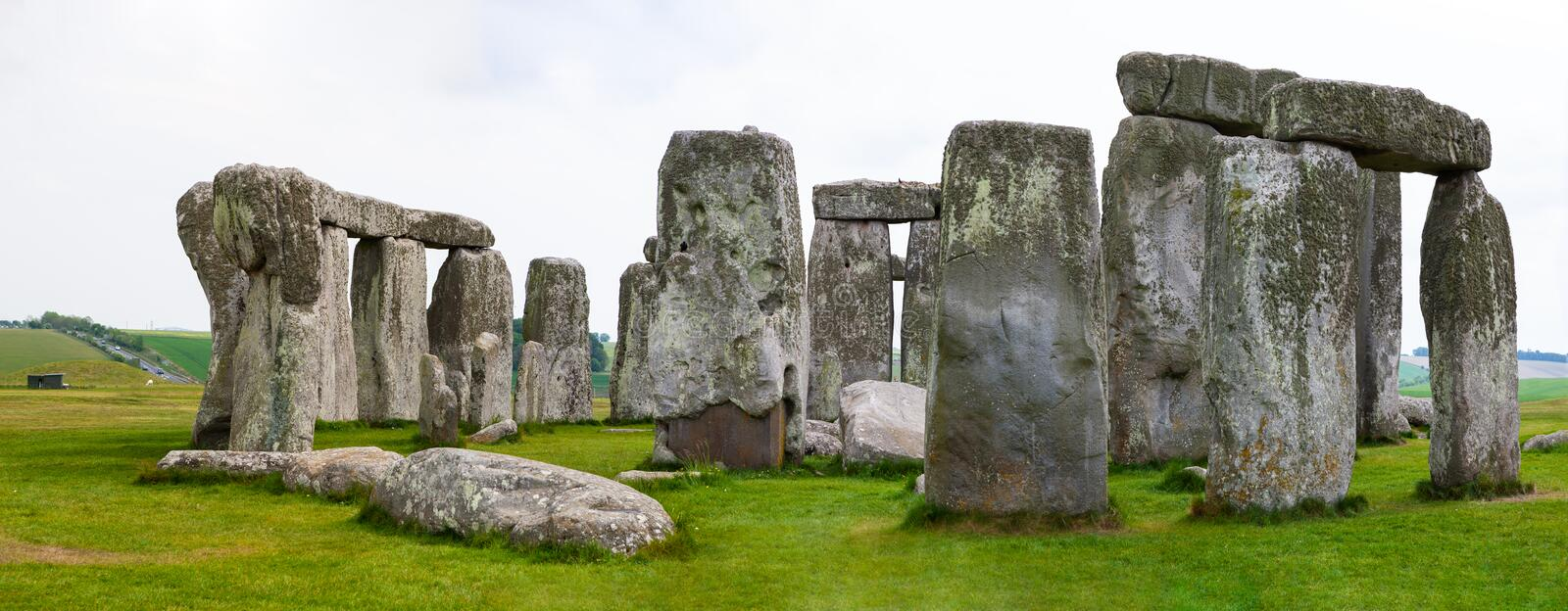 Stonehenge, Salisbury Plains, England. Neolithic prehistoric arrangement of large rocks in a circular formation stock photography