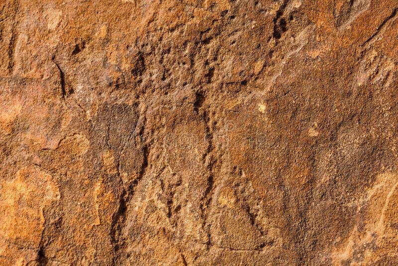 Musayqirah Petroglyphs, Riyadh Province, Saudi Arabia. Neolithic rock carvings in the desert some 200 km west of Riyadh stock photo