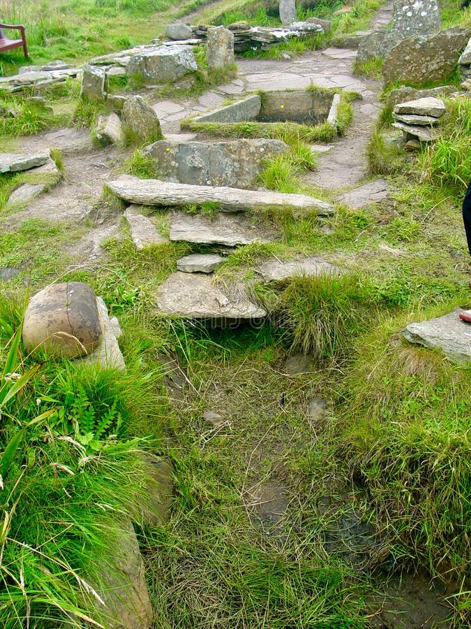 Tomb of the Eagles. Neolithic tomb of the eagles, Main Island, the Orkneys royalty free stock images