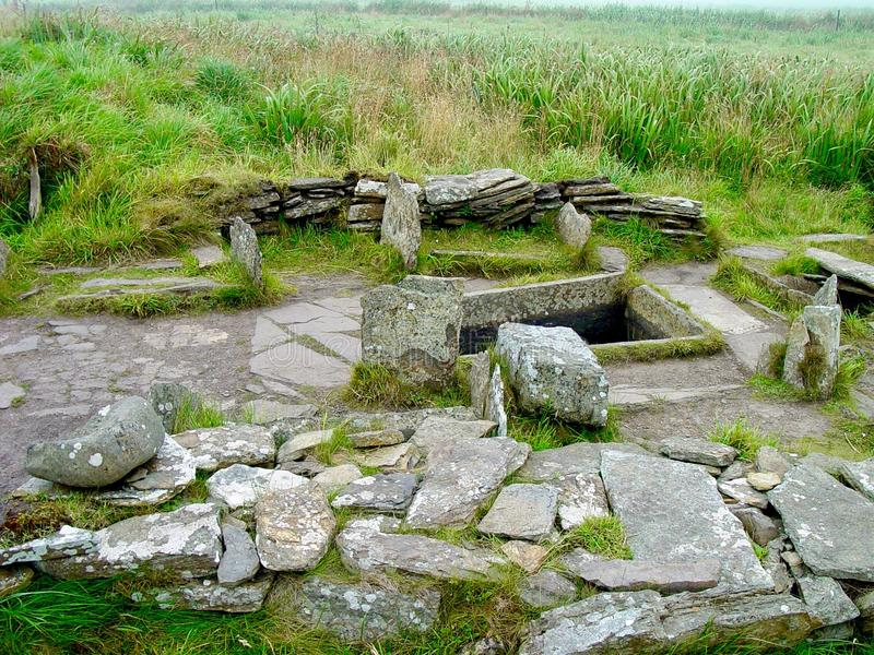 Tomb of the Eagles. Neolithic tomb of the eagles, Main Island, the Orkneys royalty free stock photos