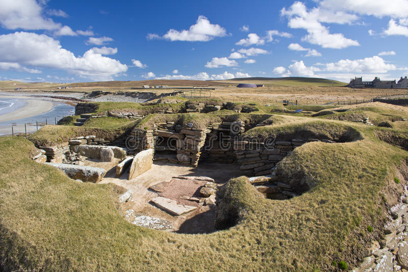 Neolithic village, Orkney, Scotland royalty free stock images