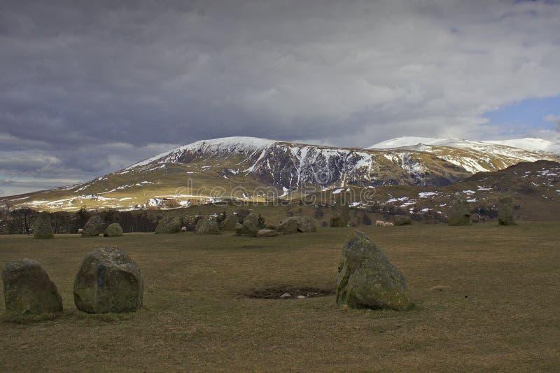 Neolithische Felsen in Cumbria lizenzfreie stockbilder