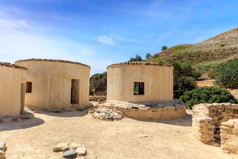 Neolityczna ugoda Choirokoitia w Cypr obrazy royalty free