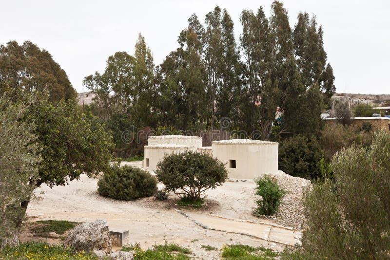 Neolityczna wioska w Cypr Choirokoitia obraz royalty free