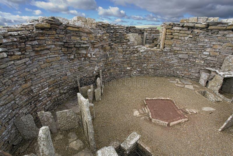 Neolityczny Broch Gurness w Orkney, Szkocja fotografia royalty free