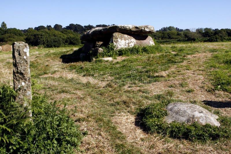 Neolityczny dolmen w Brittany fotografia stock