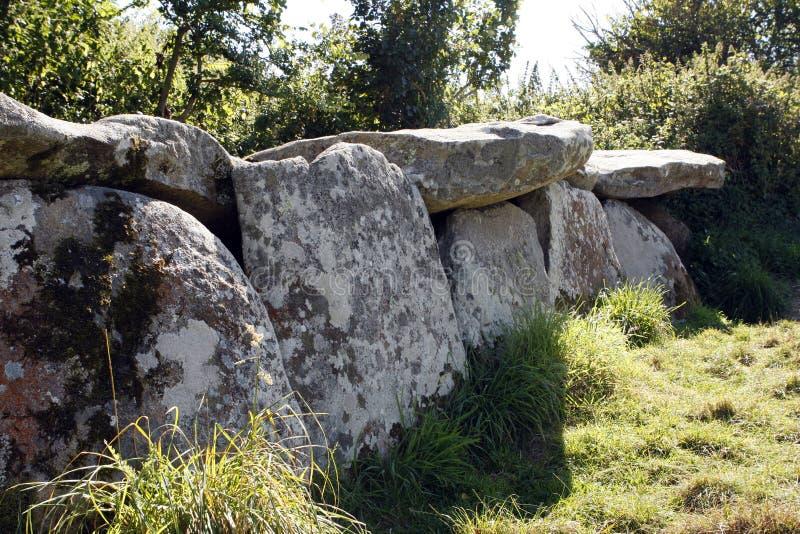 Neolityczny dolmen w Brittany zdjęcia stock