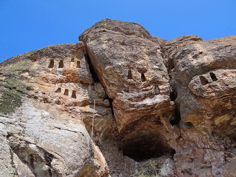 Neolityczny jaskiniowy i niszy zdjęcie stock