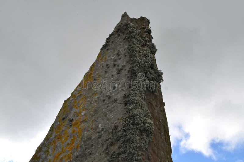 Neolityczny pierścionek Brodgar w wyspie stały ląd wyspa, Orkney archipelag, Szkocja obrazy royalty free