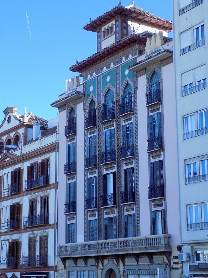 Neomudejar que constrói Malaga fotos de stock royalty free