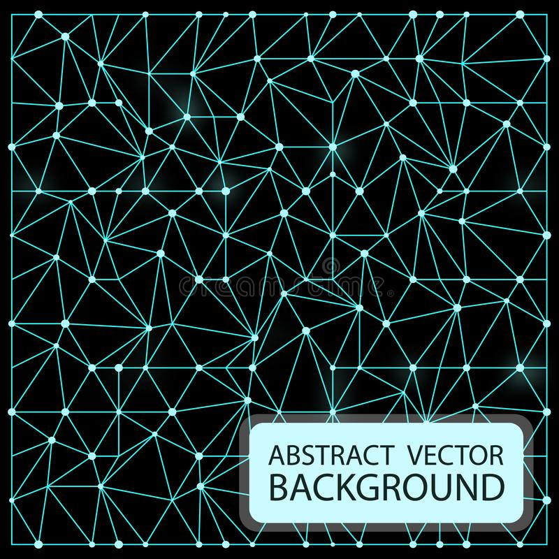 Neon abstract background. Vector illustration design rays light glow blue space stock illustration
