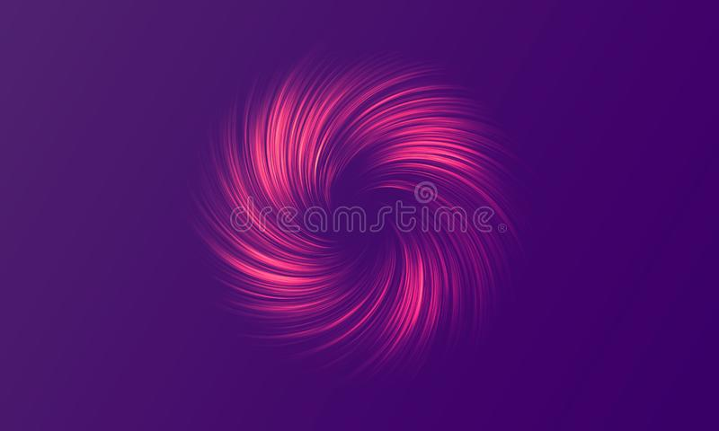 Neon abstraction, twisted in a spiral. Vector element, editable color. Modern neon abstract background. Neon abstraction, twisted in a spiral. Vector element stock illustration