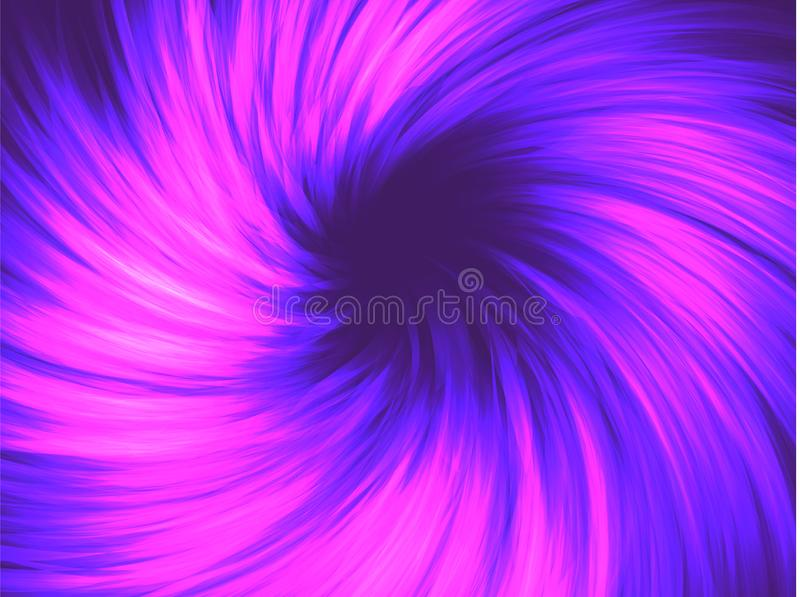 Neon abstraction, twisted in a spiral. Vector element, editable color. Modern neon abstract background. Neon abstraction, twisted in a spiral. Vector element vector illustration