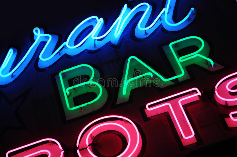 Download Neon bar sign stock image. Image of drunk, text, liquor - 29040193