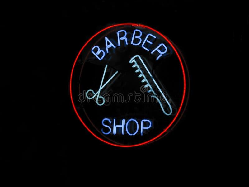 Neon BARBER SHOP sign stock photos