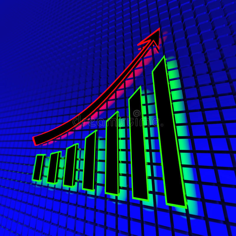 Neon bedrijfsgrafiek vector illustratie