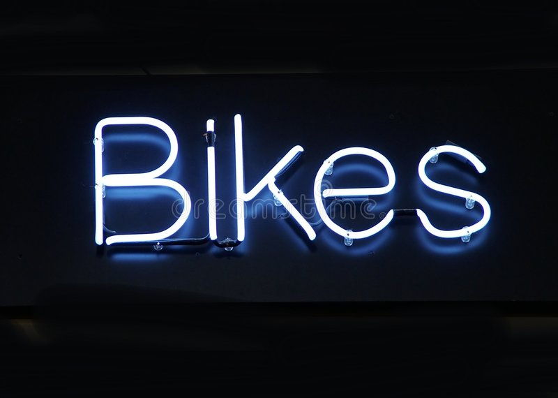 Download Neon Bikes stock image. Image of sign, healthy, health - 103237
