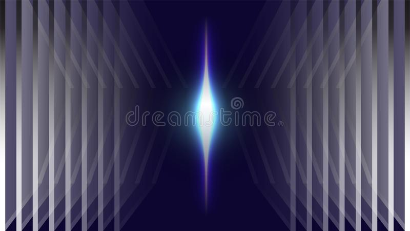 Neon blue light space abstract background royalty free illustration