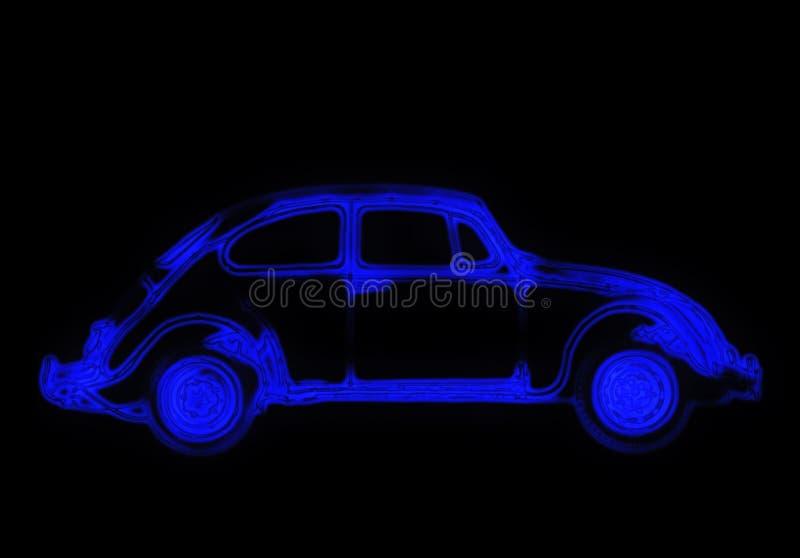 Neon car vector illustration