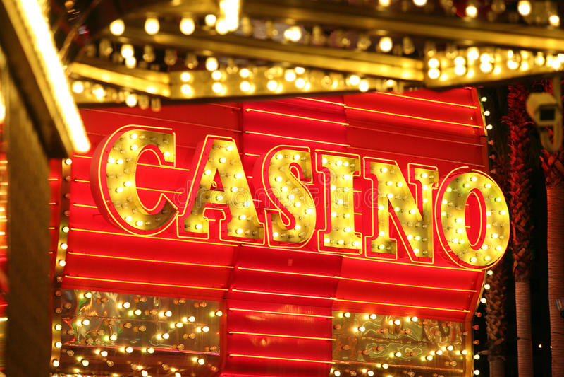 Neon Casino Sign royalty free stock photos