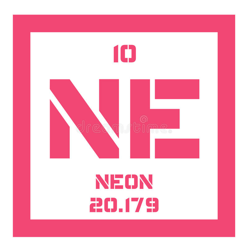 Periodic Table where are the noble gases in the periodic table : Neon chemical element stock vector. Illustration of electron ...