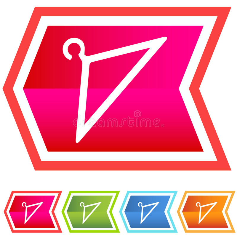 Download Neon Chevron Icon Set: Coat Hanger Stock Vector - Image: 10153845