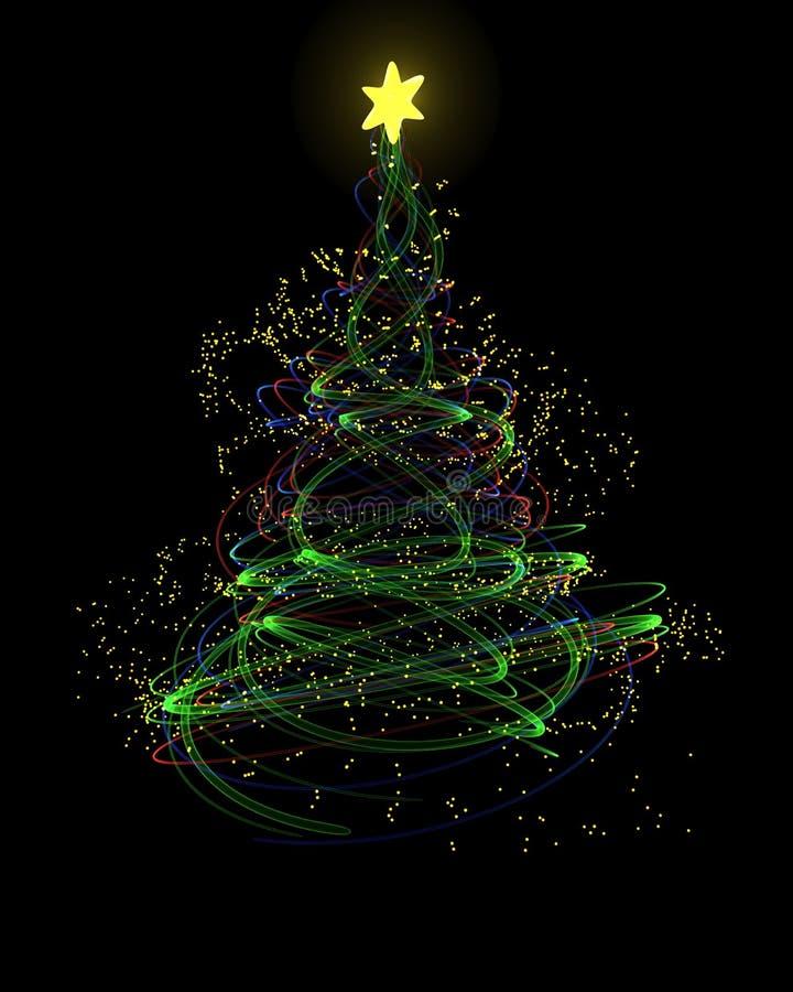 Free Neon Christmas Tree Concept Royalty Free Stock Photos - 21586748