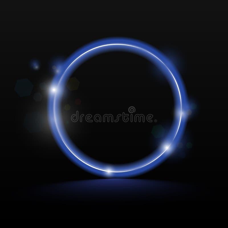Neon circle - blue, ultraviolet background for banner vector.  vector illustration