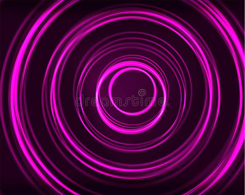Neon circles abstract background royalty free illustration