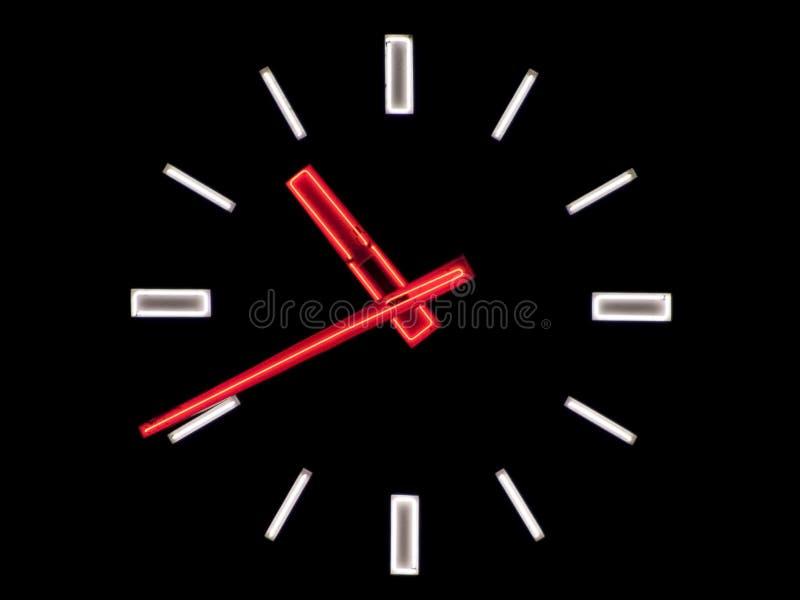 Neon clock royalty free stock photo