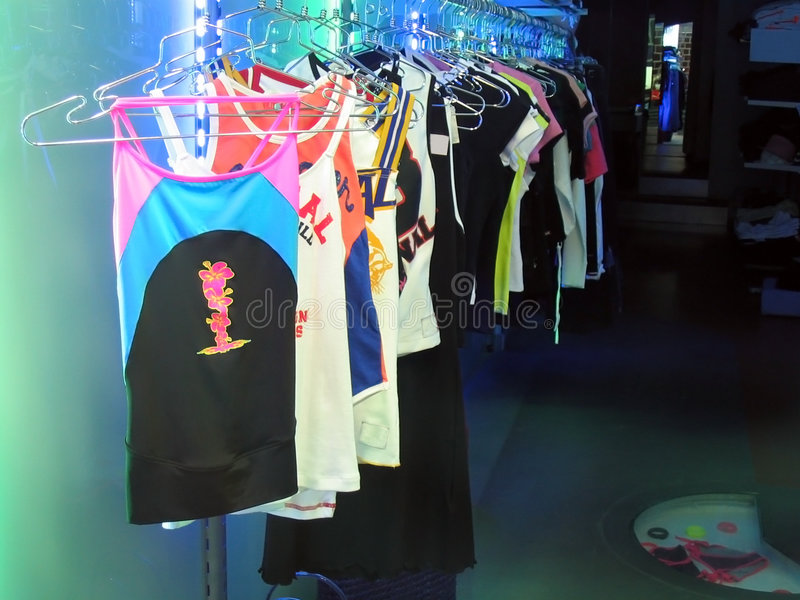 Neon Clothes stock photography