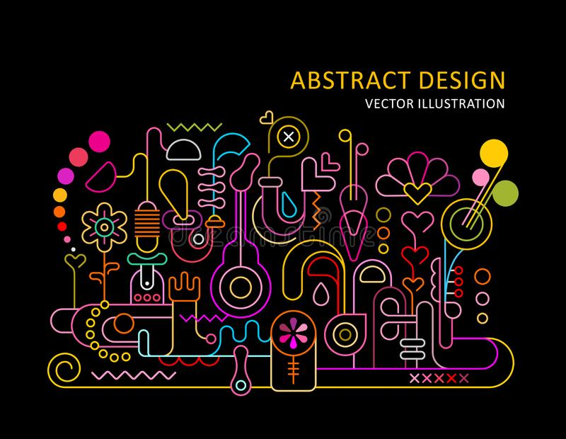 Abstract Design Neon royalty free illustration
