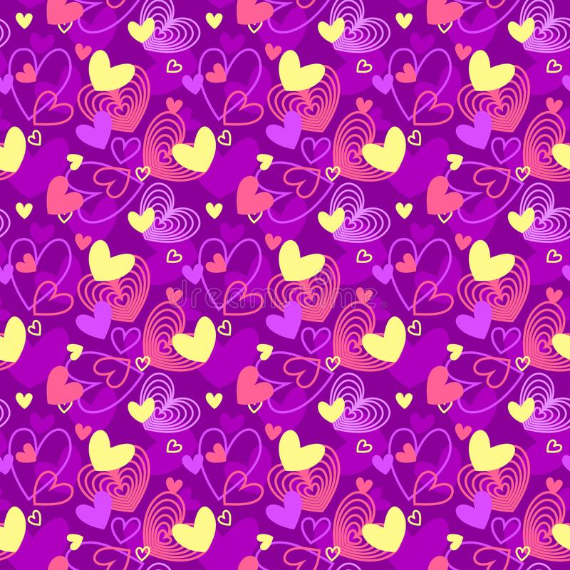 Neon colors heart shapes love seamless pattern. Neon colors heart shapes love themed seamless pattern vector illustration