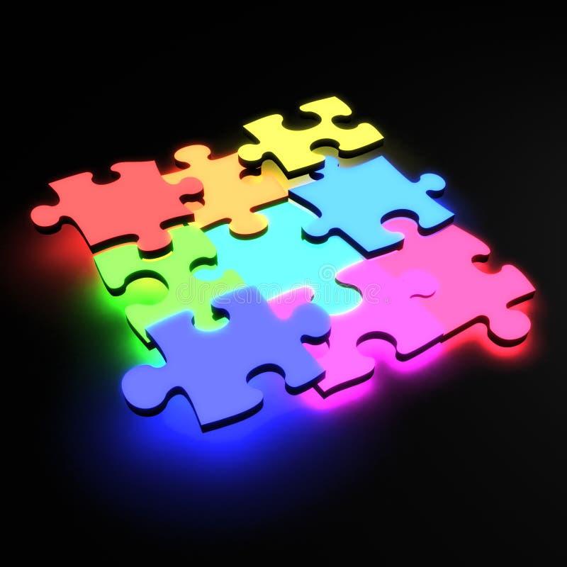 Neon di puzzle royalty illustrazione gratis