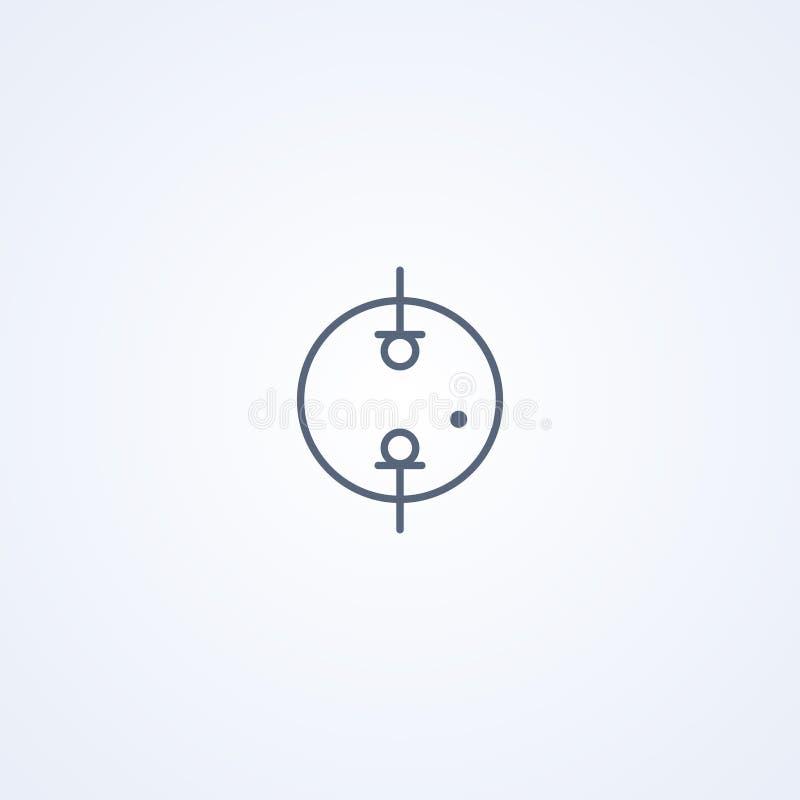 Neon en gas-discharge, vector beste grijs lijnsymbool royalty-vrije illustratie