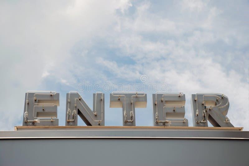 Neon Enter Sign stock photos