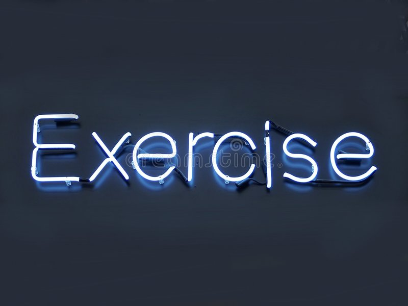 Neon Exercise royalty free stock images