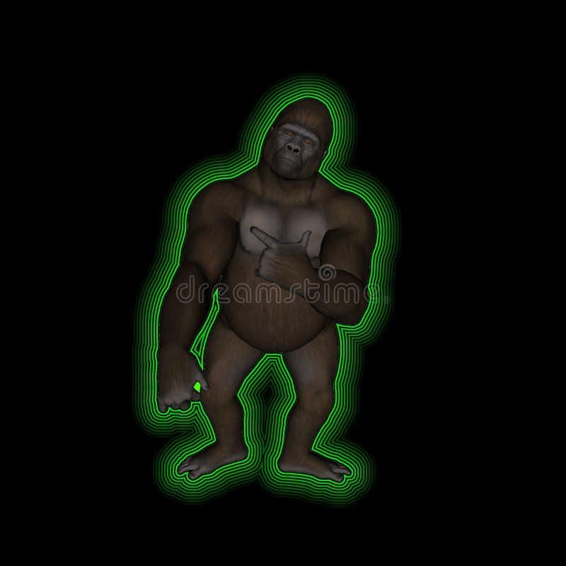 neon för apabakgrundsblack royaltyfri foto