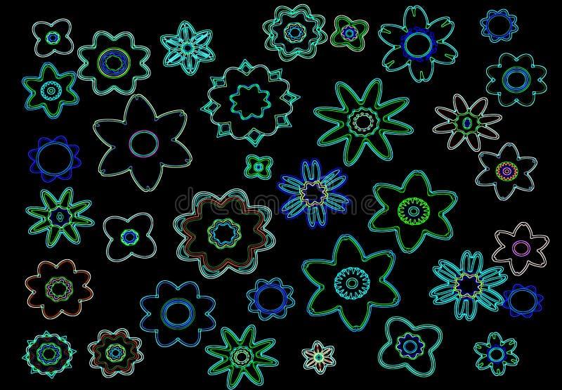 Download Neon flowers stock illustration. Illustration of decor - 11225802