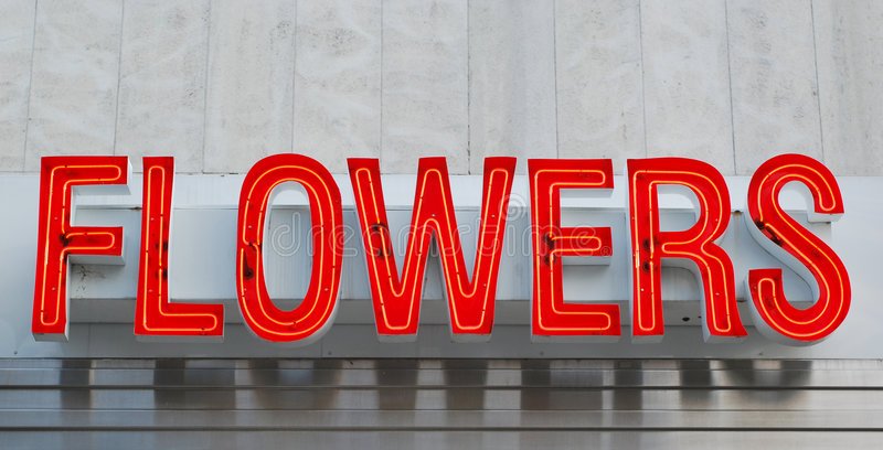 Download Neon Flowers Sign Royalty Free Stock Images - Image: 3715779