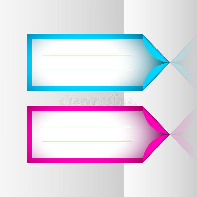 Neon frame stickers. For marking and describing places like business documents or Christmas gifts, etc... Editable vector objects in several layers. Eps 10 stock illustration